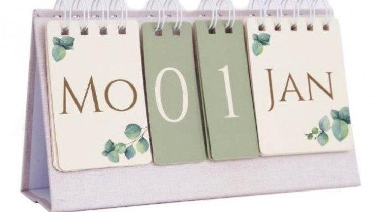 Eucalyptus Eternal Flip Calendar