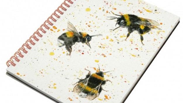 Printed Bee Hardback Notebook A6