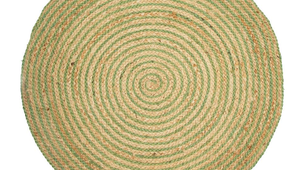 Sass & Belle Green Spiral Jute Rug