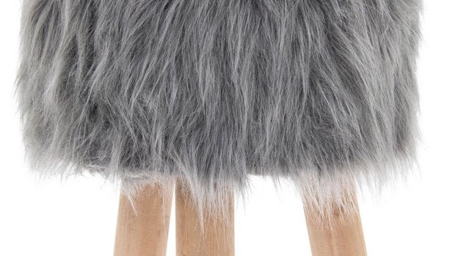 Faux Fur shaggy stool