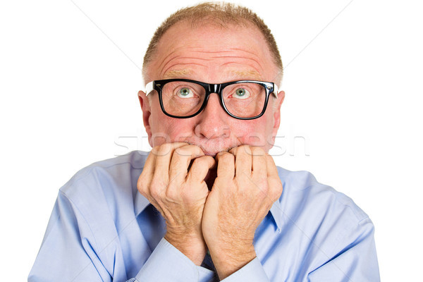 Mary K. Armstrong: Lost 20 IQ Points Lately? Image shows older man with anxiety.