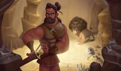 Hercule and the Nemean Lion