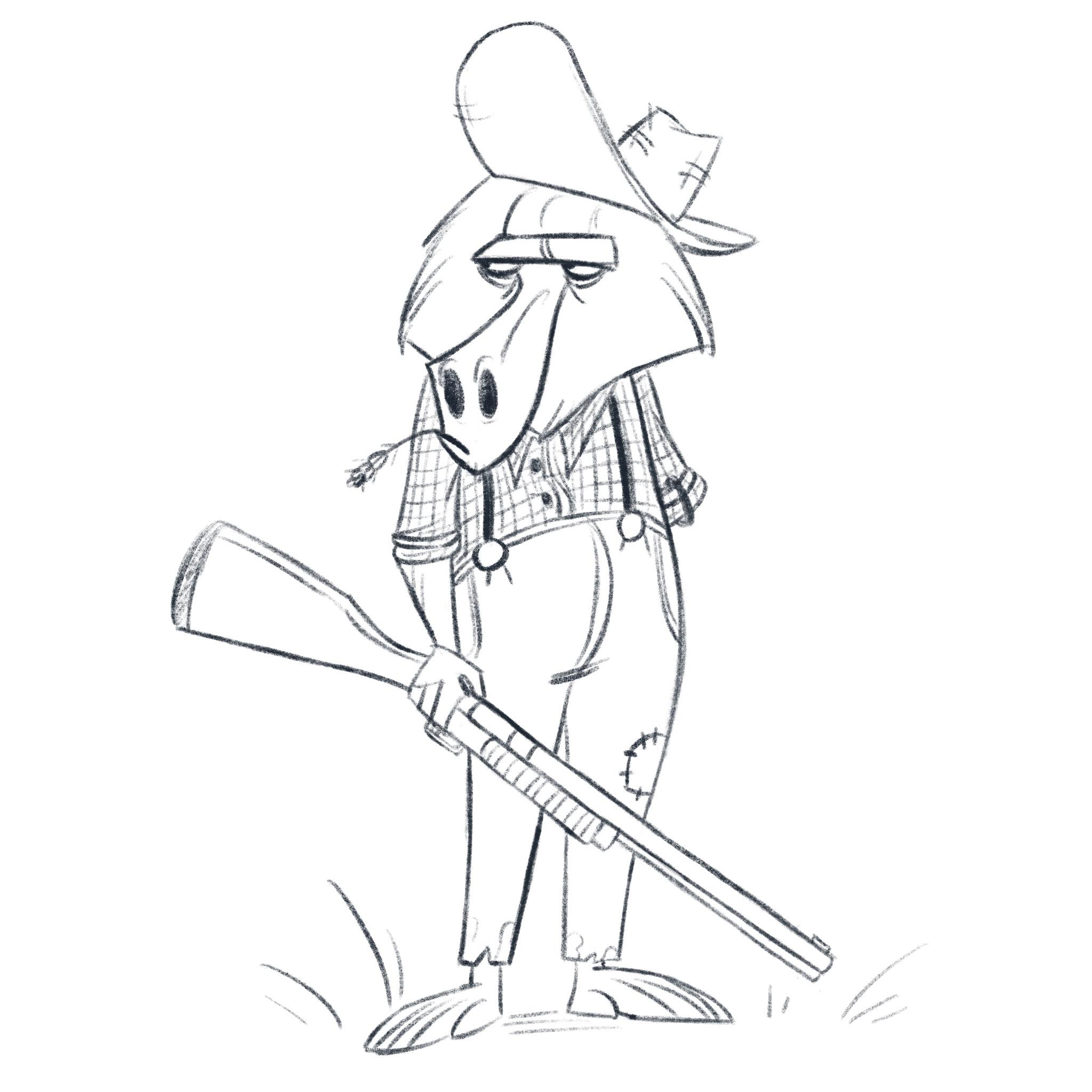 Baboon farmer
