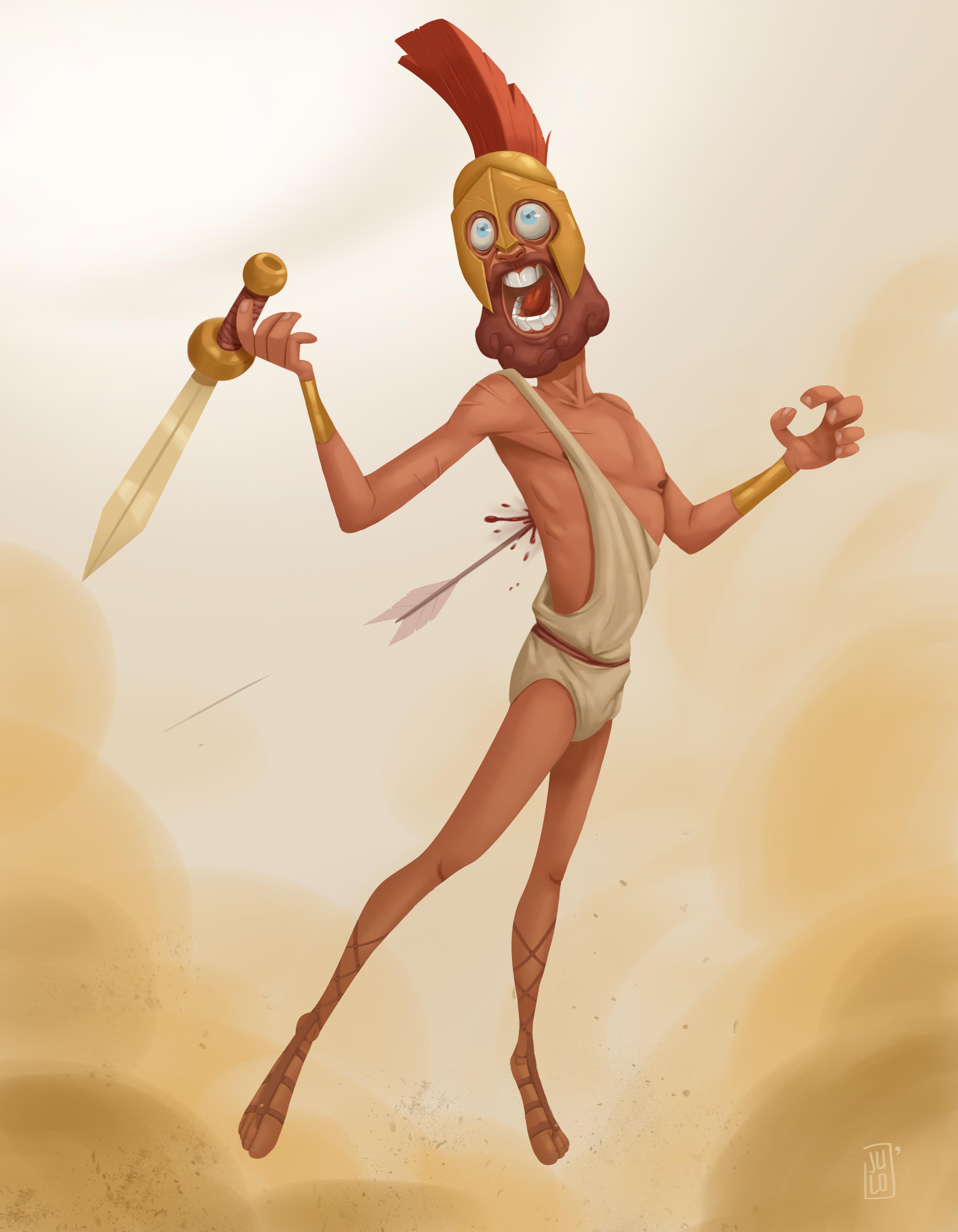 The fallen spartan