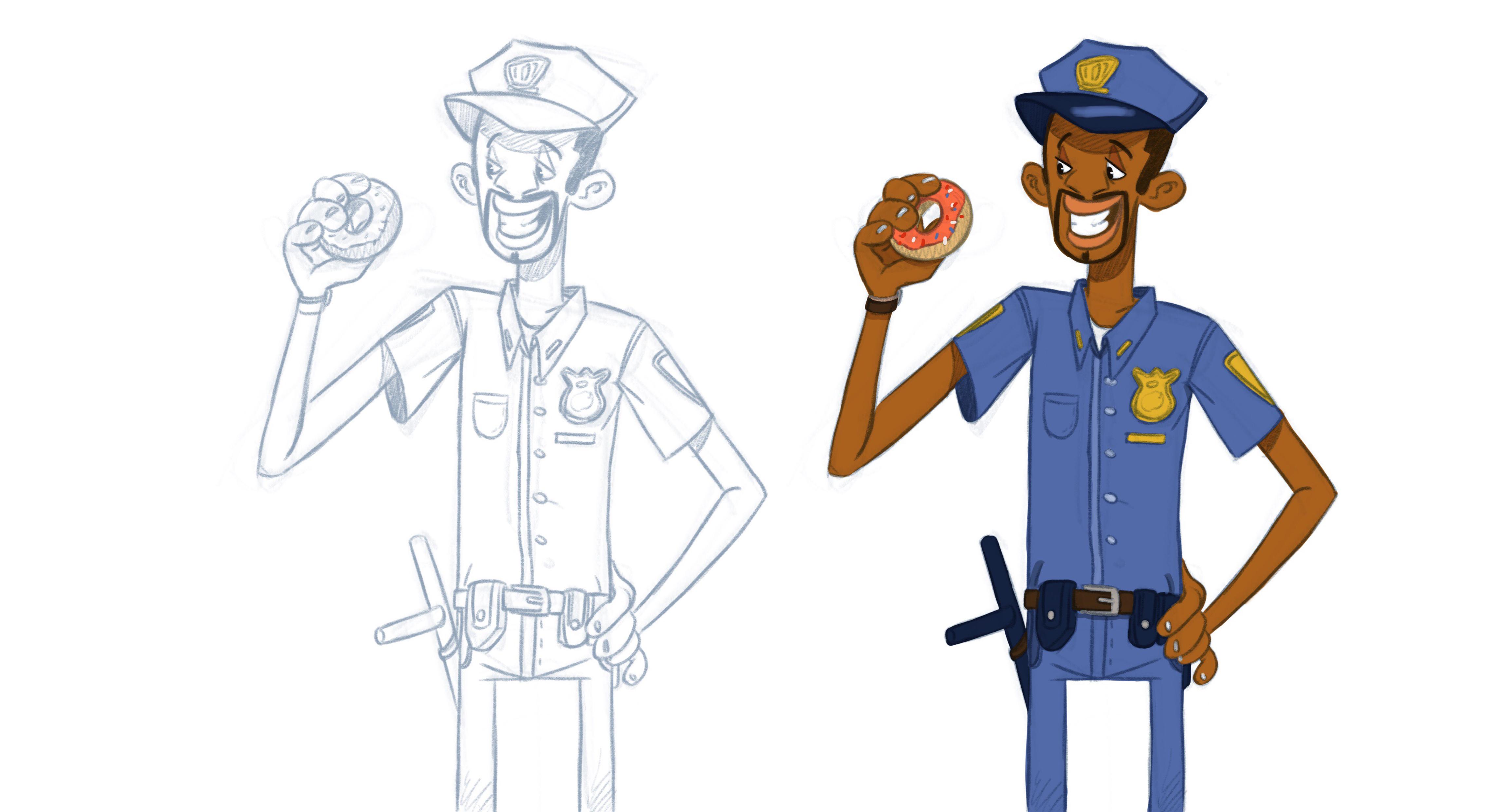 funky cop