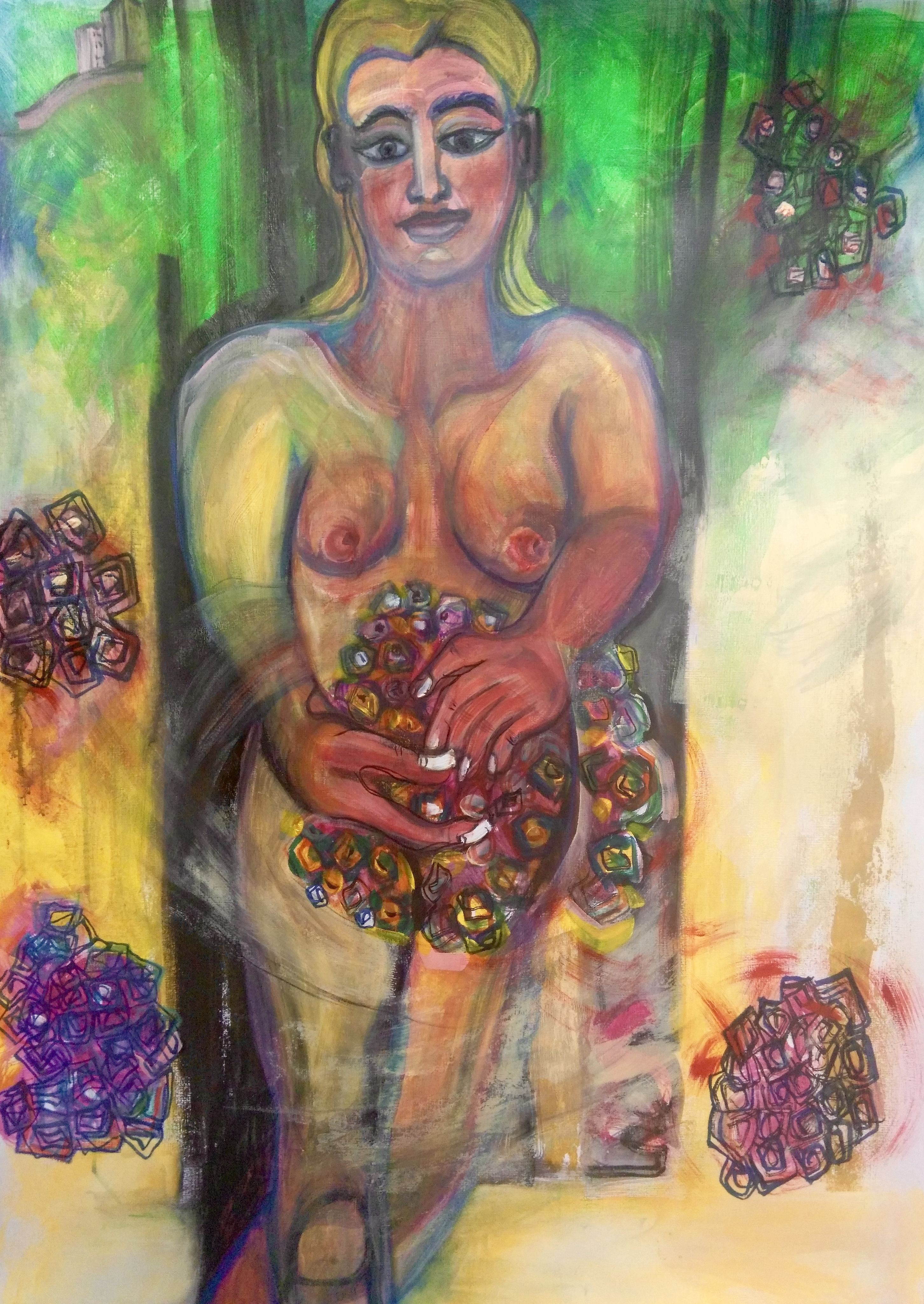 Nude with flowers ©