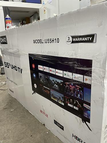 "CHIQ 55"" UHD ANDROID SMART TV(U55H10)"