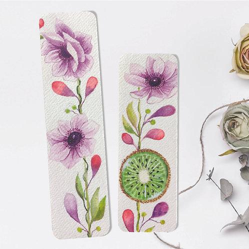 Floral Fruit Bookmark