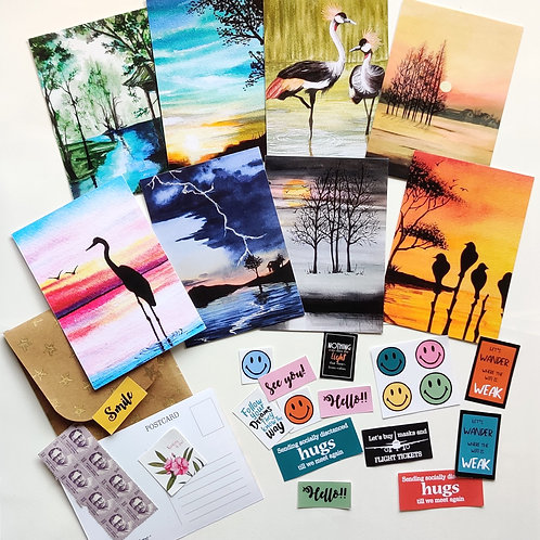 Happiness Postcards Kit