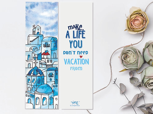 Santorini Bookmark