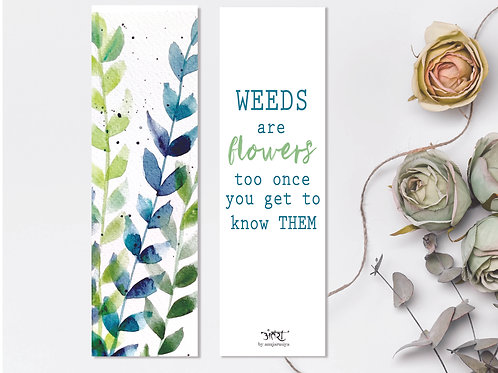 Weeds Bookmark
