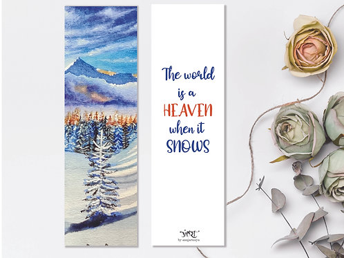 Snow Bookmark