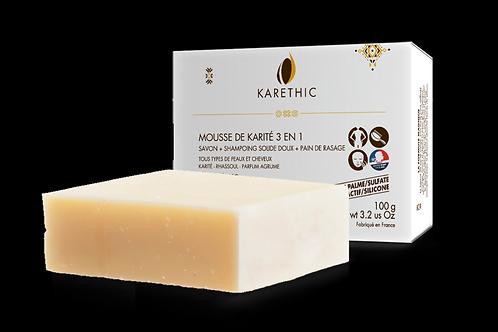 Mousse de Karité – Savon – Shampoing solide 3 en 1