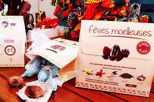 Fèves de cacao moelleuses