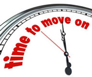 A clock that shows it is time to move on