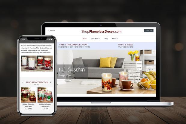 Flameless Decor Website