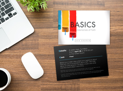 Basics Invite Card