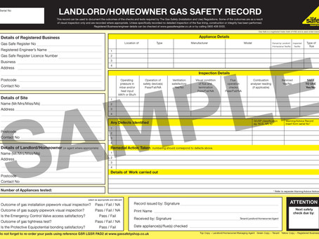 Gas Safety Certificates & Section 21 Notices