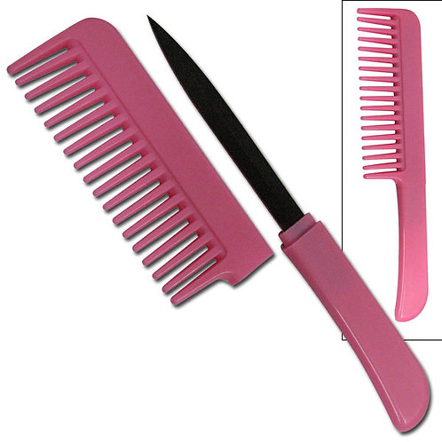 """PINK COMB KNIFE 6.5"""" OVERALL"""