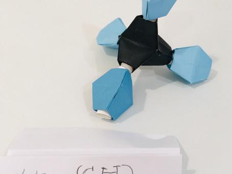 11月の実験部「折り紙でつくる分子モデル」