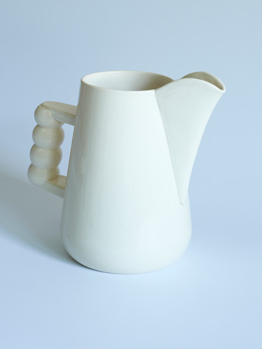 white jug bulbous handle