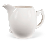 Large white slip cast jug