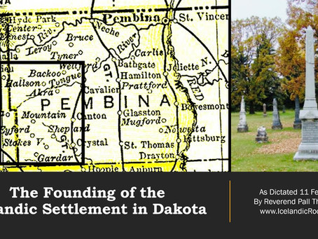 The Founding of the Icelandic Settlement in Dakota