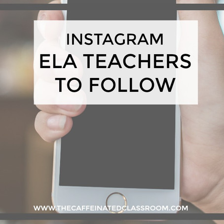 ELA Teachers to Follow on Instagram