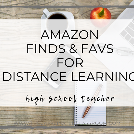 10 Amazon Finds & Fav's for Distance Learning