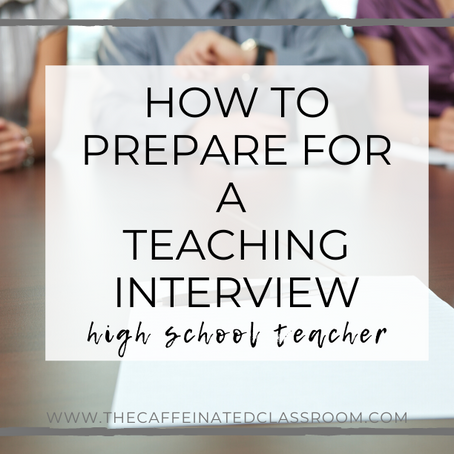 How to Prepare for a Teaching Interview