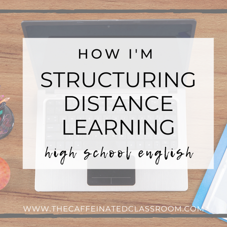 How I'm Structuring Distance Learning