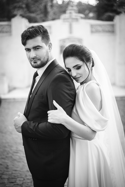 alb negru poze nunta