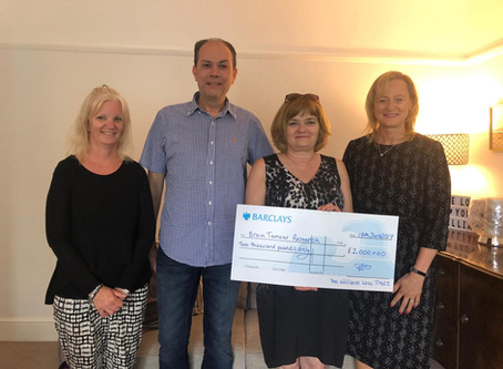 £2,000 donated by The William Low Trust to Brain Tumour Research