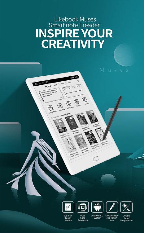 7.8インチ電子書籍リーダー Likebook Muses T78D WACOM製タッチペン Android 6.0.1搭載 日本語・GooglePlay対応