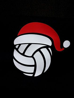 Volleyball Santa T-shirt