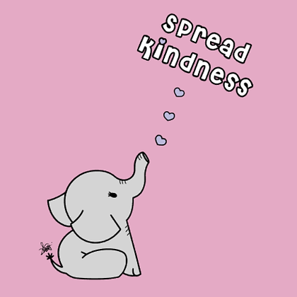 Youth - Pink Shirt Day - Share Kindness - Grey Elephant