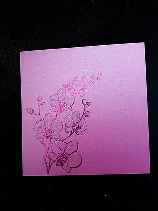 Foiled Orchid Card