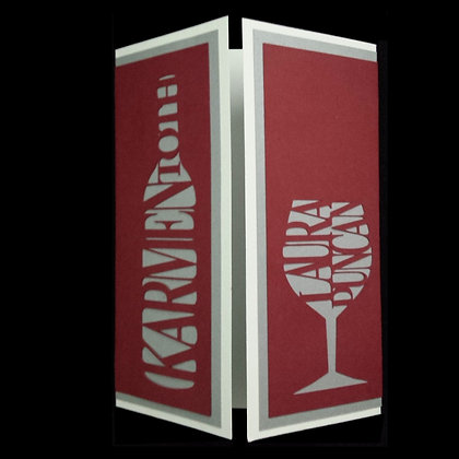 Personalized Wine Gate Card