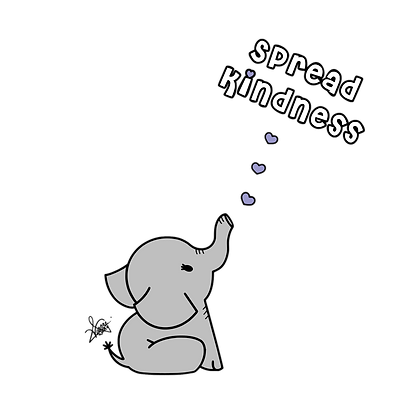 Adult (crew neck) - Share Kindness - Grey Elephant