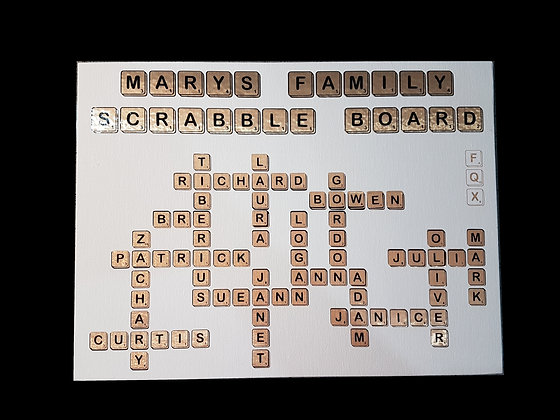 Family Scrabble Board