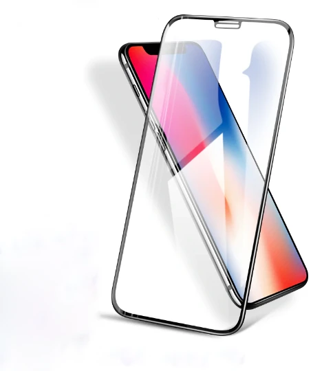 iPhone Xs Max 5D Tempered Glass (Black) (Full Glue)