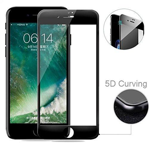 iPhone 7/8 5D Tempered Glass (Black & White) (Full Glue)