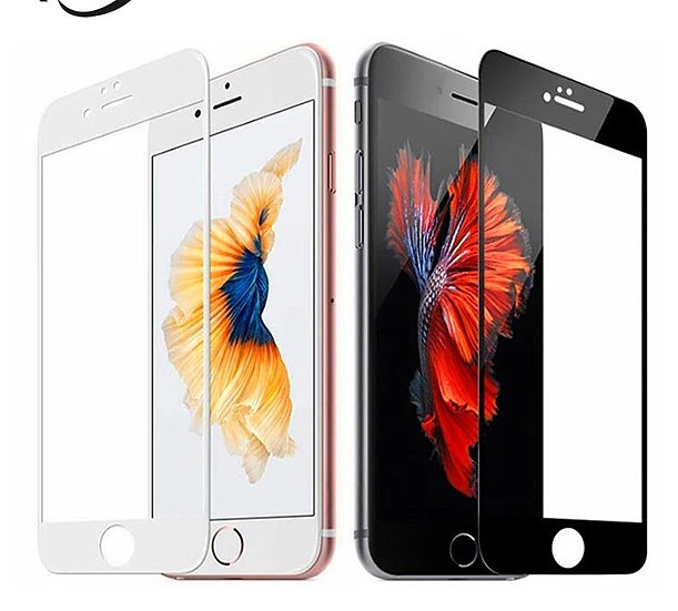 iPhone 6 Plus 5D Tempered Glass (Black & White) (Full Glue)