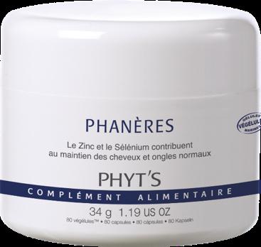 Phanères complèment allimentaire Phyt's 80 gélules