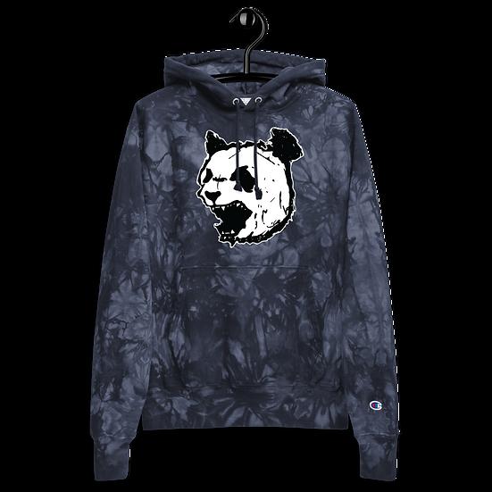Navy Panda  tie-dye hoodie