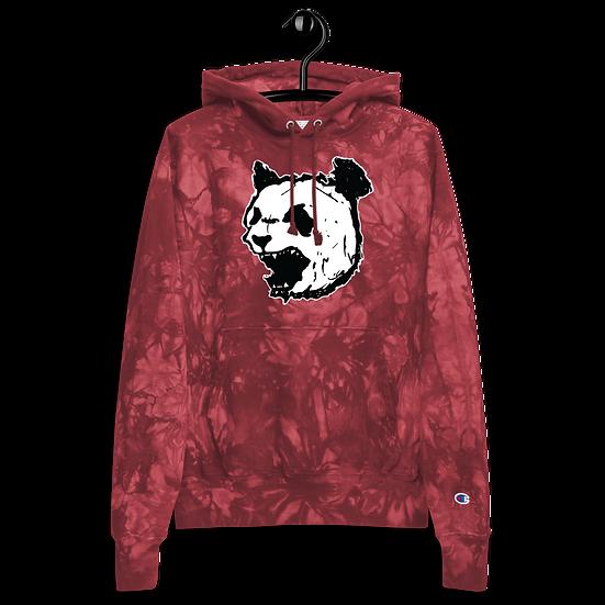 Mulled Berry Panda  tie-dye hoodie