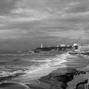 Biarritz, marée d'équinoxe