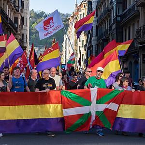 Manifestation républicaine (Saint-Sébastien-Espagne)