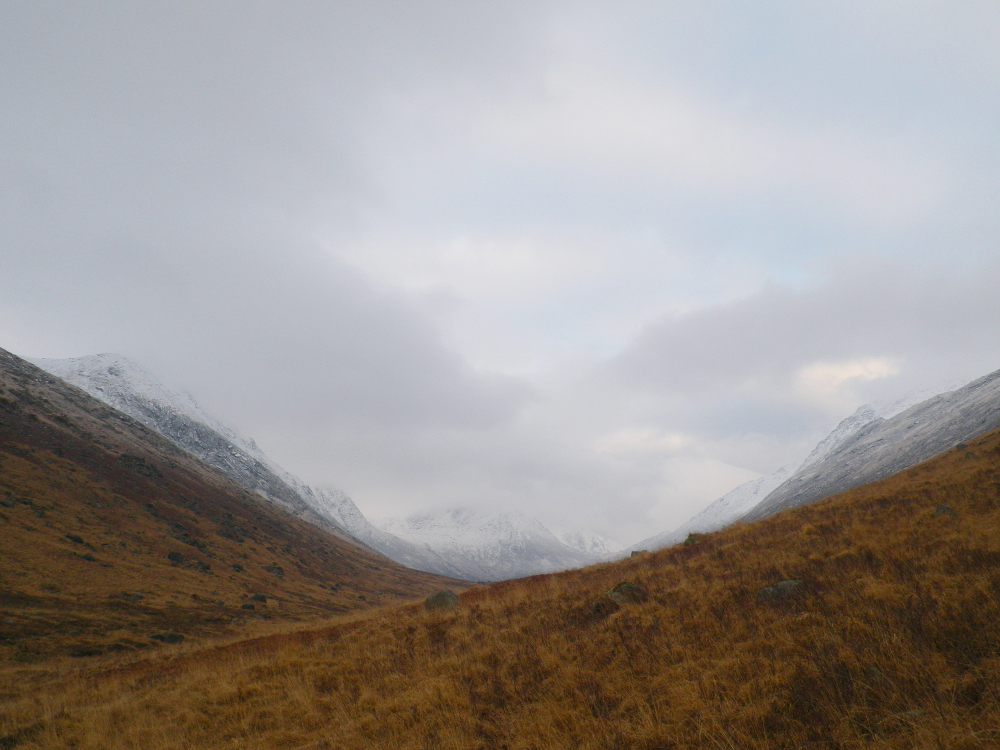 glen rosa with snow mountains - listing size