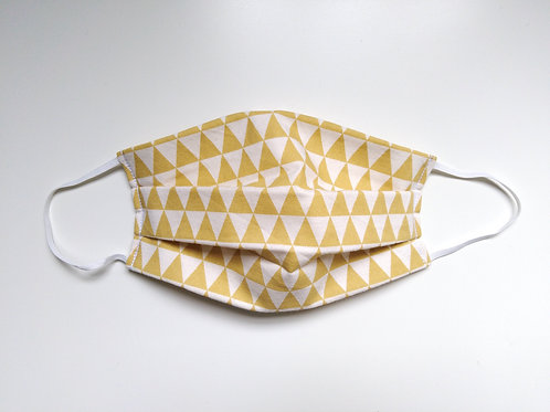 Geometric Triangles Cotton Face Mask, Reusable Filter Pocket Mask, Nose
